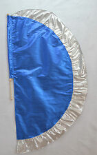 Blue/Silver Angel's Wing Flag with Pole - Christian Worship Dance
