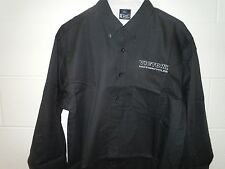 VICTORY MOTORCYCLE SHIRT MENS BUTTON DOWN BLACK SIZE L OR XL  NEW MECHANIC CREW