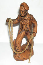 Francis Lascour - Terre Cuite (Terracotta) Figurine - The Fisherman - 20cm Tall.