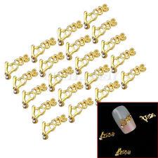 """20x 3D Ongles Bling Bijoux """"Love"""" Nail Art Manucure Bricolage Conseils Déco"""