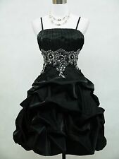 Cherlone Black Party Prom Cocktail Ball Evening Wedding Bridesmaid Dress Size 12