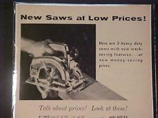 ~OLD STANLEY TOOLS Electric Wood Saw TOOL ART PRINT AD~ ORIGINAL ANTIQUE 1956