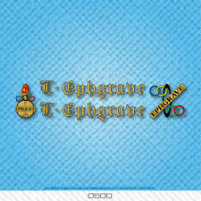 Ephgrave Bicycle Decals - Transfers - Stickers - Gold & Black Text - Set 0500