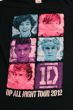 ONE DIRECTION 1D 2012 Up All Night Tour Concert Black T-Shirt, Sz.S