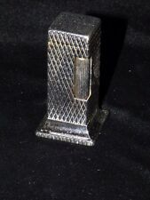 "VINTAGE DUNHILL DIAMOND PATTERN ROLLALITE TABLE LIGHTER SILVER TONE 2 1/2"" TALL"
