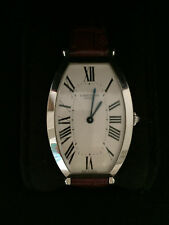 AUTH Cartier Tonneau LG Platinum watch #0001 w/ extra jewelry box & papers $27K