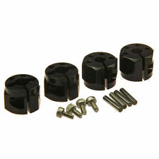 Aluminum 12mm HEX Wheel hub 10mm Thickness for 1:10 Scale RC Crawler 4PCS Black