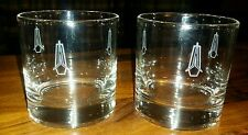 TWO VINTAGE 1960s PLYMOUTH DEALER PROMO BARWARE GLASSES DODGE MOPAR DEALERSHIP