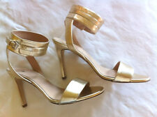 J Crew 7 Ankle Cuff High Heel Sandals a5328 Platinum Sold Out $278