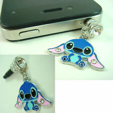 Disney Lilo & Stitch Metal Anti Dust Plug Cover Charm For iPhone Samsung + GIFT