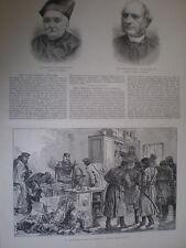 Police raid on a Nihilist printing press St Petersburg Russia 1887 old print