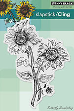 Sunny Pair Sunfower Cling Style Unmounted Rubber Stamp PENNY BLACK 40-312 New