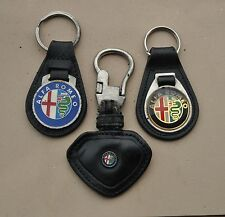 ALFA ROMEO Leather motor car Key FOB keyrings x 3 used