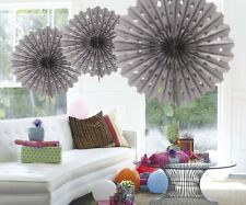 Christmas Party Decoration Honeycomb Fan 45cm Silver Paper