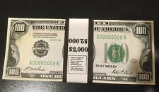 $2,000 1928 $100 Bills Play Money Ben Franklin, 20 Pieces USA Bundle Prop Money