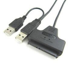 """USB 2.0 auf SATA 7+15 Pin Festplatten Adapter Kable für 2.5"""" HDD Neu"""