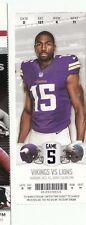 2014 MINNESOTA VIKINGS VS DETROIT LIONS TICKET STUB 10/12/14 NFL GREG JENNINGS
