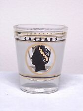 Caesars Frosted Black And Gold Shot Glass