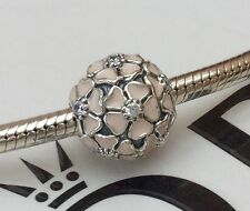 GENUINE PANDORA STERLING SILVER PINK CHERRY BLOSSOM CLIP WITH POUCH 791826EN40