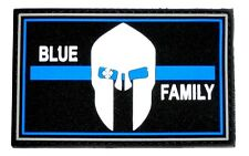 Klettpatch Rubberpatch ca. 8 x 5cm blue family thin blue line Polizei police