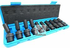 "10Pc 3/8"" Drive Universal Metric Swivel Deep Impact Socket Set CR molybdenum"