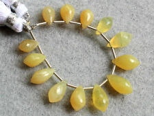 Natural Yellow Opal Faceted Chandelier Briolette Gemstone Beads 003