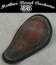 Antique Brown Distressed Banana Spring Solo Seat Chopper Harley Sportster