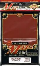 80 KMC Mat Red CARD BARRIER Japanese Deck Protectors MTG MAGIC POKEMON