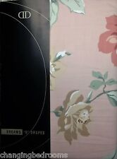 """TAPE TOP PINK FLORAL CAROLINE HOME CARAVAN READY MADE LINED CURTAINS  46x48"""""""