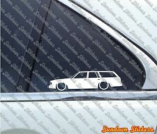 2X Lowered car outline stickers - For Chevrolet Malibu G-Body station wagon