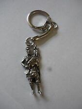 Scottish Piper Made From Fine English Pewter on a Snake Keyring cw36