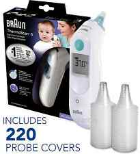 NEW Braun ThermoScan 5 6020 Baby Digital Ear Thermometer with 220 Probe Covers