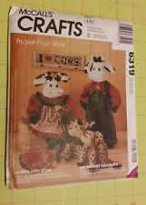 McCall's crafts pattern 6319 a MOO-VING story cow dolls