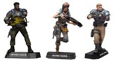 "Gears of War Del Kait & JD Fenix Set of 3 Blue Colour Tops 7"" Figure McFarlane"