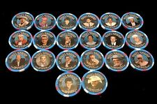 COMPLETE SET OF 20 BINION'S HORSESHOE $2.50 CASINO CHIPS PAULSON WSOP CHAMPIONS