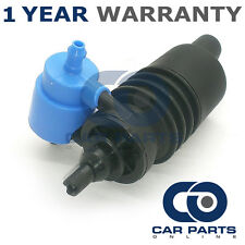 FOR SKODA OCTAVIA (1996-2015) FRONT & REAR TWIN OUTLET WINDSCREEN WASHER PUMP