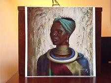 ORIGINAL RARE Tretchikoff Ndebele Girl 1960s - Vintage Kitsch Art Print