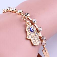 Neuf Bracelet en strass alliage plaquer d'or bijoux cadeaux idéal pour femmes