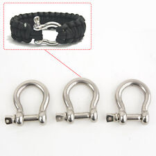 Stainless Steel Bow Shackle Holder, U-shape Sport Screw Pin Anchor M6 6.3mm 1/4""