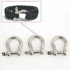 Bow Anchor Shackle U-shape Holder 10PCS, Screw Pin Stainless Steel M6 6.3mm 1/4""