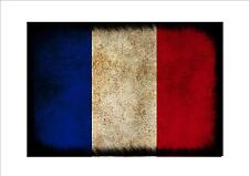 France French aged flag metal sign vintage style French flag sign