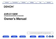 Denon AVR-X1100W Receiver Amplifier Owners Manual