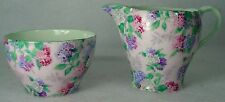 SHELLEY china SUMMER GLORY (Henley) pattern Mini Creamer & Open Sugar Bowl Set