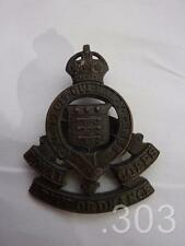 WWII King's Crown Officer's Royal Army Ordnance Corps Cap Badge Blade Fittings
