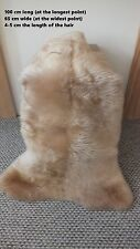 Genuine sheepskin rug natural sheepskin rugs real rug fluffy rug 100cm/65cm A36