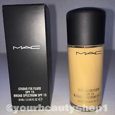 New Mac Foundation Studio Fix Fluid Foundation  SPF 15 NC30 100% Authentic
