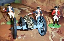 Britains American War of  Independence Gun Crew x 3 and Cannon made in England