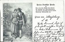 AK Gruss aus Strassburg Perlen Deutscher Poesie 1901  OA Balingen Württemberg