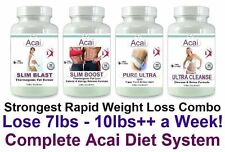 Acai Purificare Pillole dimagranti detox Fat Burner CLEANSER perdere peso perdita Tablet Set 4