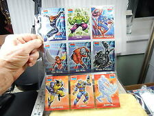 9-Mixed Lot Topps 2001 Marvel Comic Legends Collector Trading Cards 7-28 Hulk